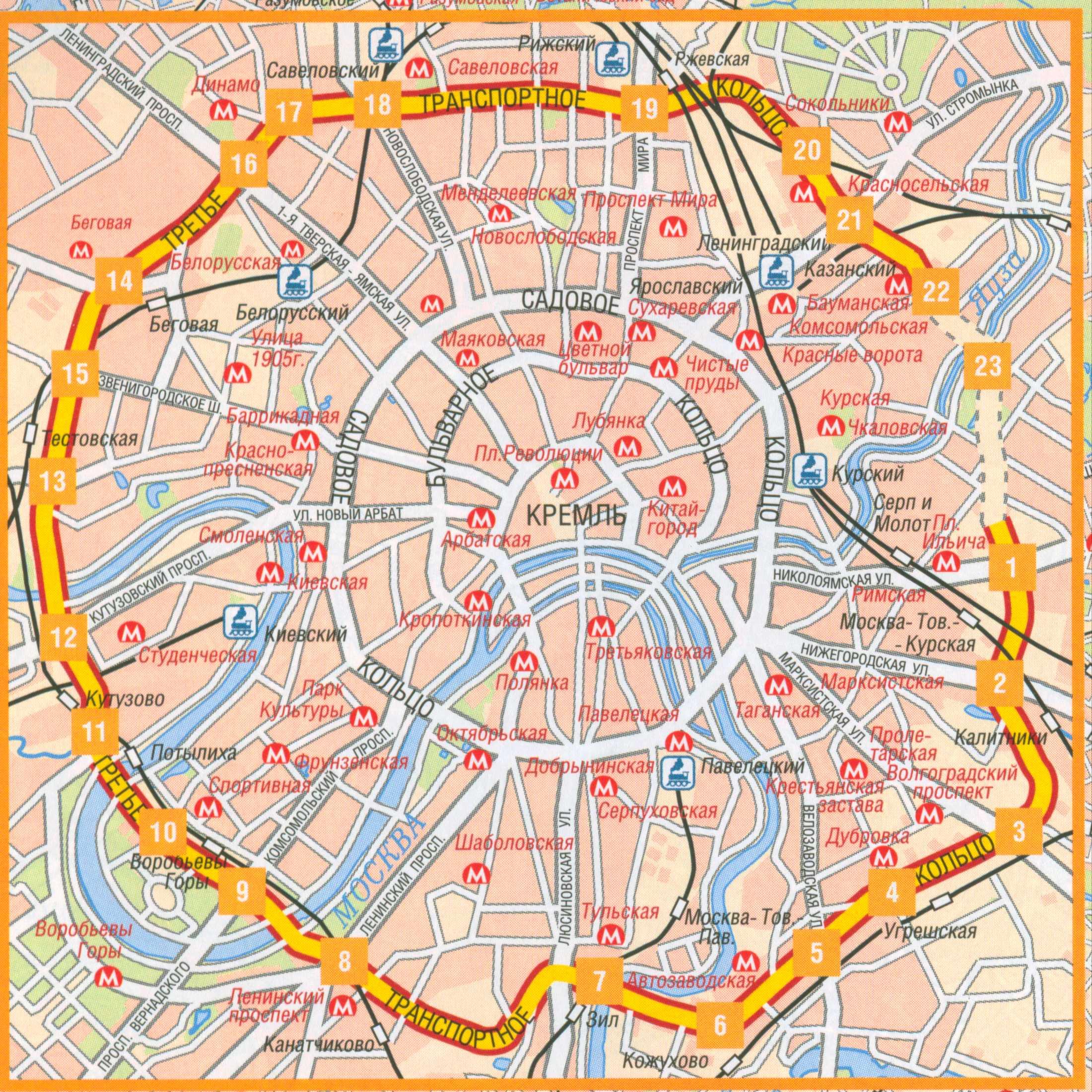 Четвертое Транспортное кольцо на карте Google.