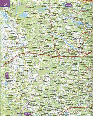 Бесплатно скачать подробную карту автомобильных дорог Московской