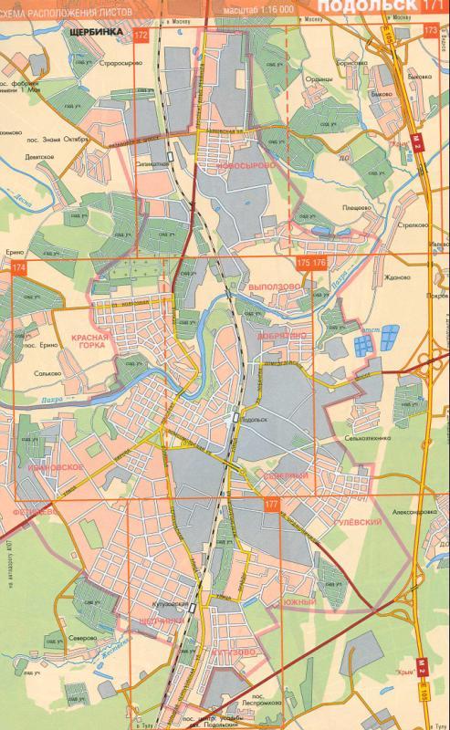 Карта Подольска. Районный