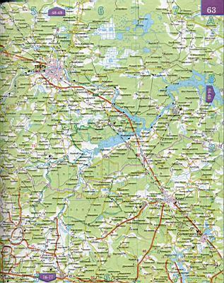 Карты автомобильных дорог областей