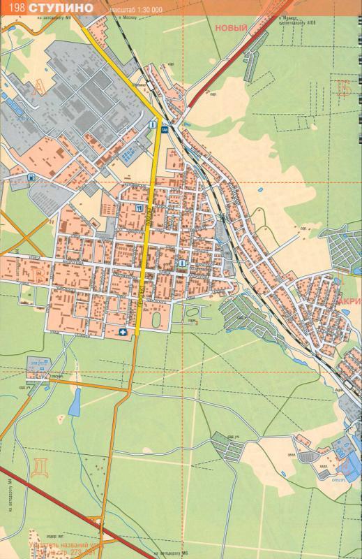 Карта Ступино, Московская