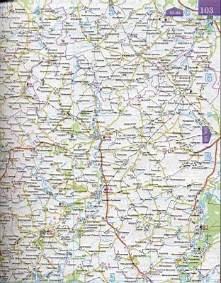 Область россии подробная карта