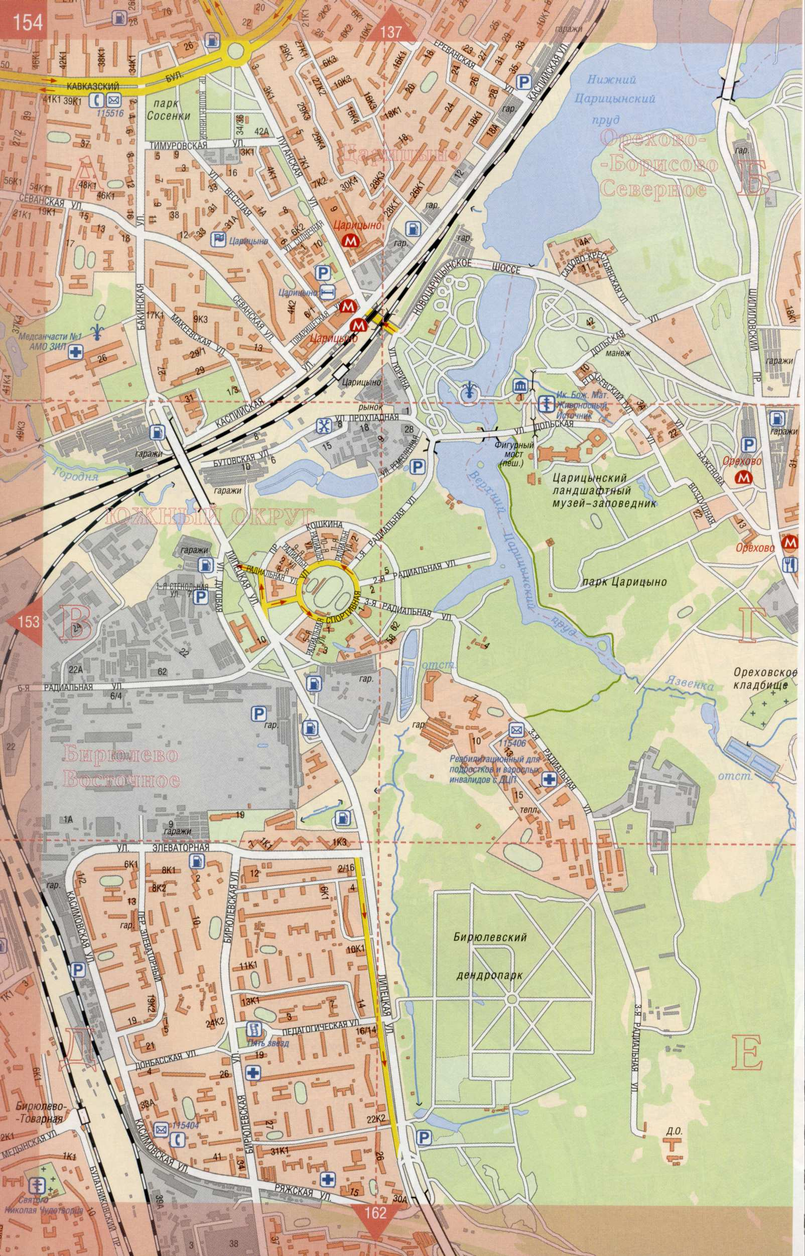 Карта Москвы улицы дома организации  ЯндексКарты