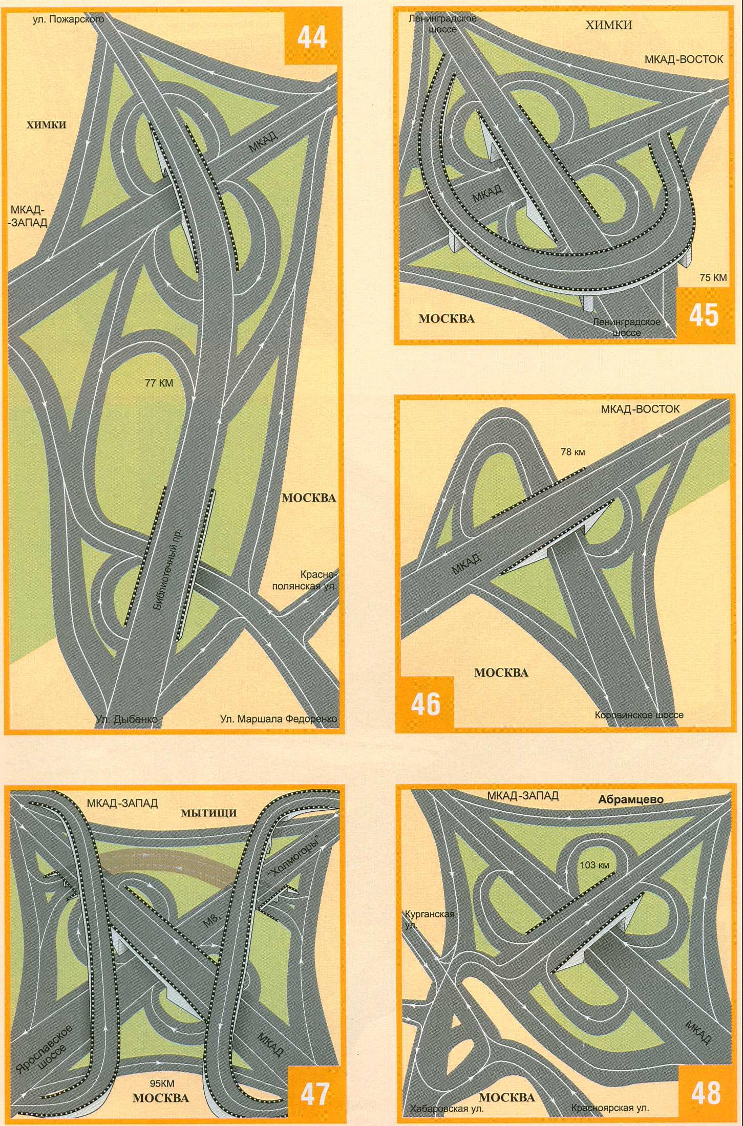 Схема проезда по новой дорожной развязке возле станции.