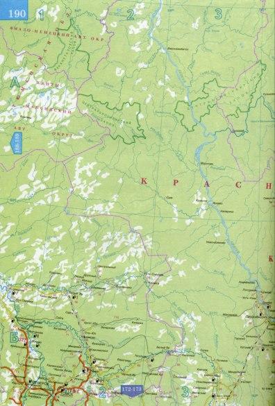 Большая карта Красноярского
