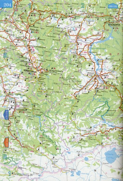Красноярский край большая карта