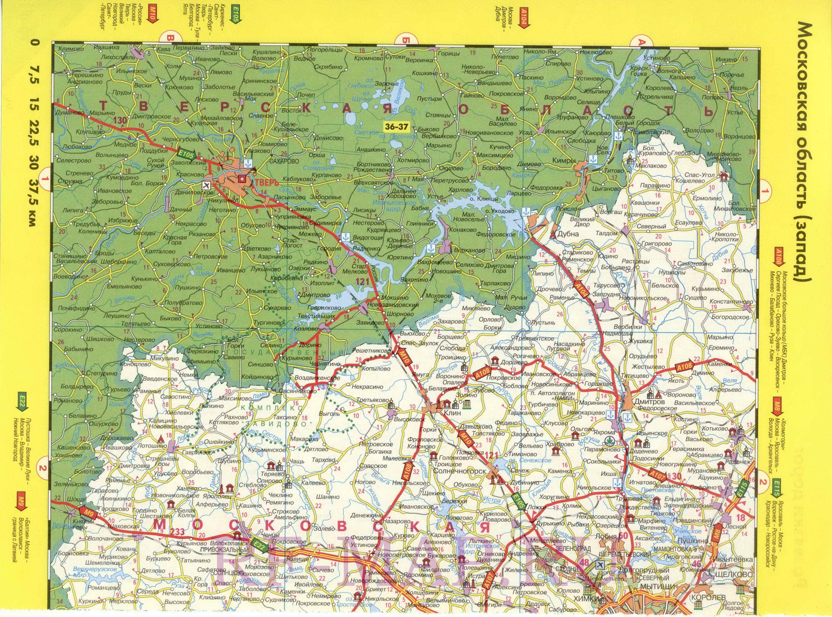 схема дорог москвы