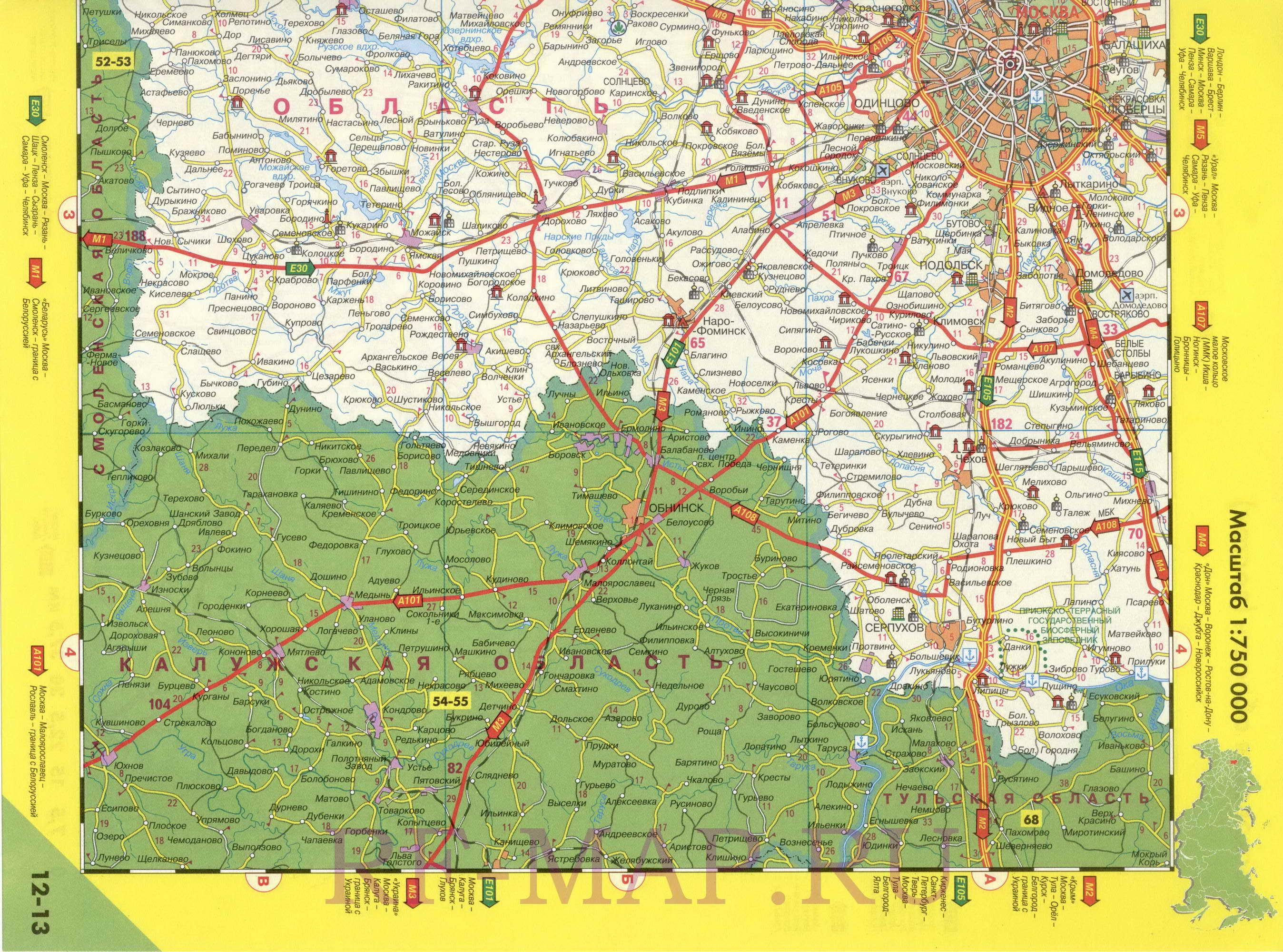 Автомобильные дороги москвы схема 314
